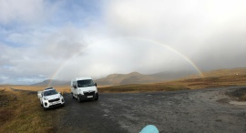 Rainbow at random pullout on the Golden Circle route